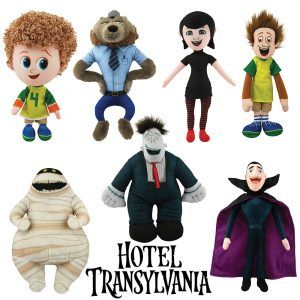 Hotel Transylvania 2 Plush Dolls Complete set Size: 26-42cm Condition: 100% brand new with individual tags Material: quality plush fibre and felt accessories