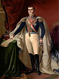Cononel Agutin de Iturbide was aMexican army general and politician; during the Mexican War of Independence, he built a successful political and military coalition that took control in Mexico City and gained independence