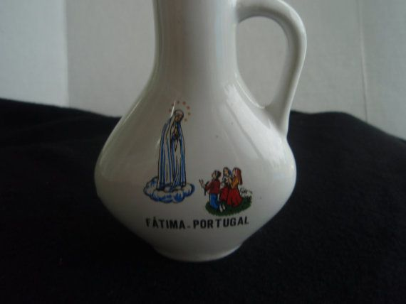 Portugal Holy Water Jug from Fatima Portugal  Religious