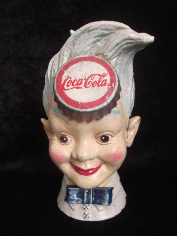 Vintage retro Cast Iron Coca Cola money box,Vintage cast iron money box, Vintage…