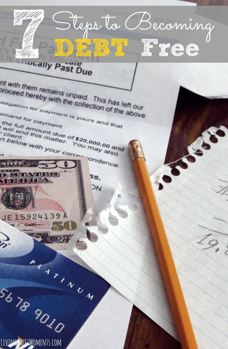 7 Steps To Becoming Debt Free This Year - These 7 easy steps will help you overcome debt and give you a little breathing room for the upcoming Holidays!