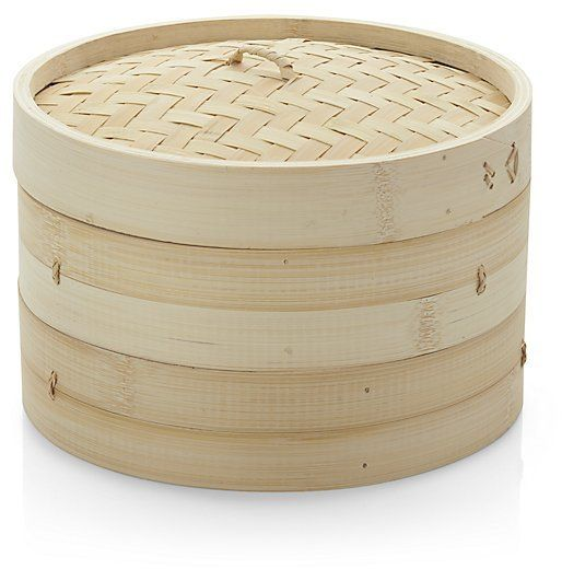 Bamboo Steamer Essential for Asian cooking, this two-tiered bamboo steamer can steam for any cuisine. Designed for use inside a wok or over a stockpot, it's ideal for cooking vegetables, dumplings, fish and steamed puddings.