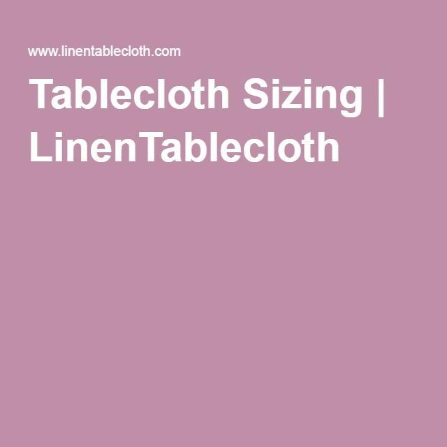 Tablecloth Sizing | LinenTablecloth