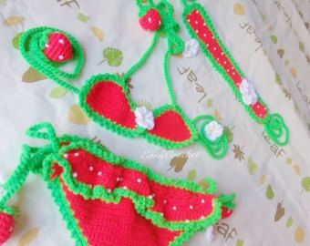 Daisy beach setCrochet baby bikini and by EarnCrochet on Etsy