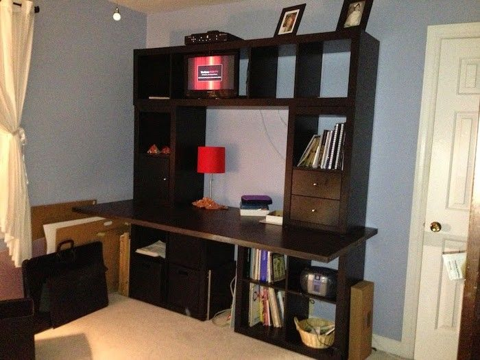 17 best ideas about bureau ikea on pinterest desks bureaus and ikea desk - Bureau avec etagere ikea ...