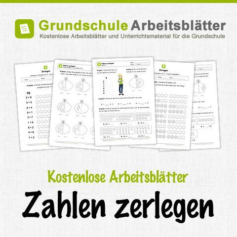 Kostenlose Arbeitsblätter und Unterrichtsmaterial zum Thema Zahlen zerlegen im Mathe-Unterricht in der Grundschule.