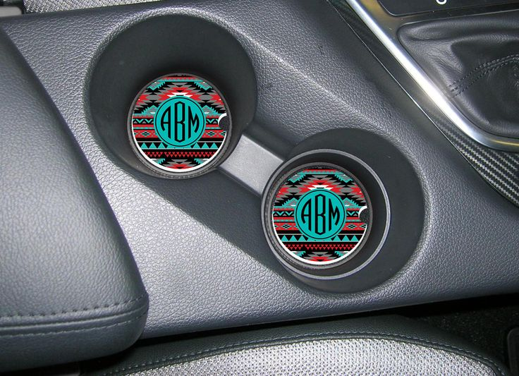 Custom Car Coasters Cup Holder Coasters Design Your Own Personalized Sandstone Coasters Aztec Cute Car Accessories For Women…
