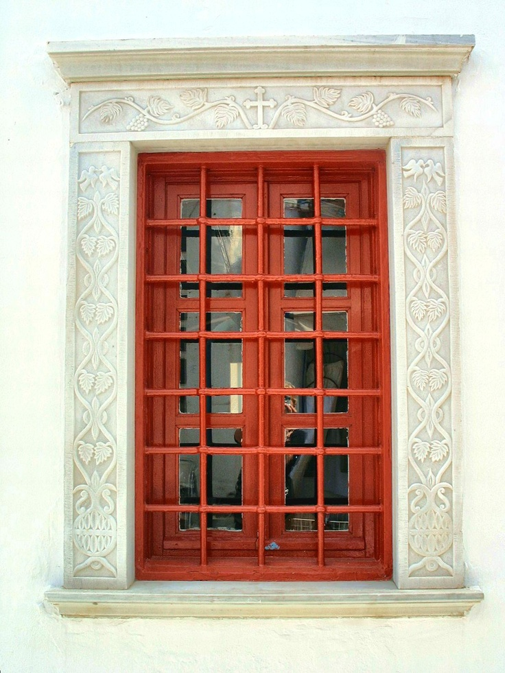 Red Church Window With Bars, Mykonos Town, Greece  2011 / by Marny Perry