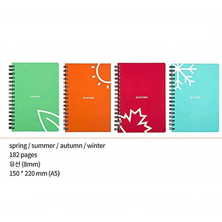 Moior Larveling Note Naturalism 2 Season Set Notebook Stationary Exercise Book #Moior