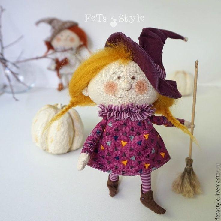 Купить Маленькие Ведьмы Подружки Куклы текстильные Подарок на Хэллоуин - кукла текстильная, куклы из ткани