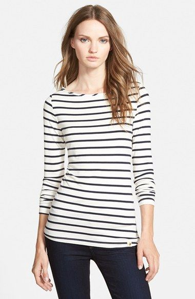 Free shipping and returns on Amour Vert 'Francoise' Nautical Long Sleeve Top at Nordstrom.com. Crisp nautical stripes band a long-sleeve top fashioned from a stretchy modal-jersey blend.