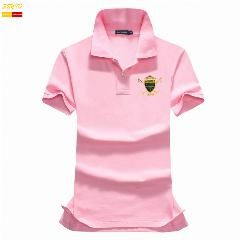 [ 19% OFF ] New Summer Causal Women Polo Shirt Embroidery Badge Breathable Cotton Solid Women Shirt Short Sleeve Slim Shirts T0004