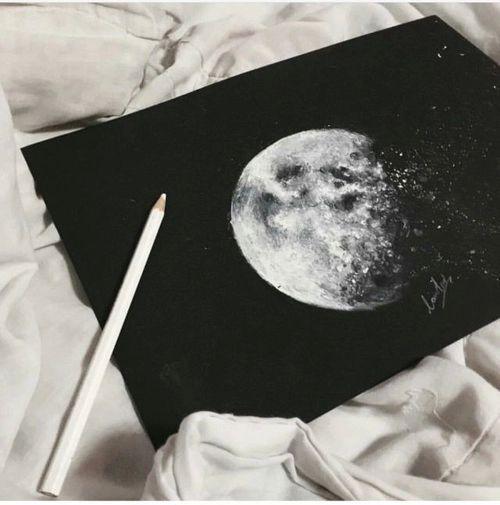 Resultado de imagen para luna dibujo a lapiz