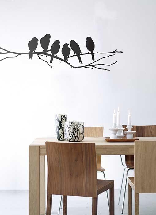 Love Birds Black Wall Sticker