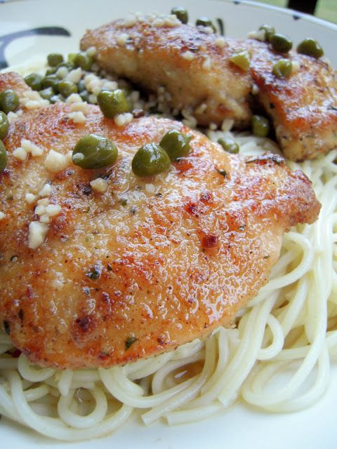 Chicken Piccata - no one will ever guess how easy this is! With a few simple ingredients you can make a restaurant quality meal! Chicken, garlic, butter, lemon and capers.
