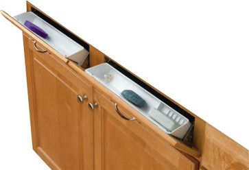 """14"""" False Front Tip-Out Trays With Hinges, White contemporary-kitchen-drawer-organizers"""