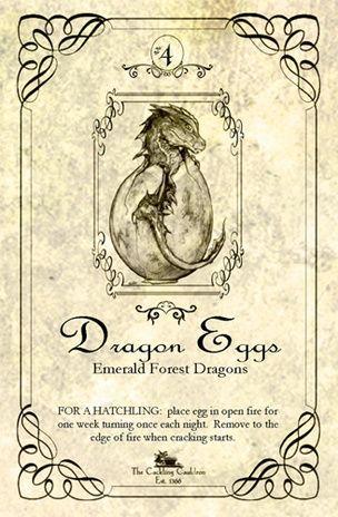 """Dragon's Eggs"" Bottle Label"