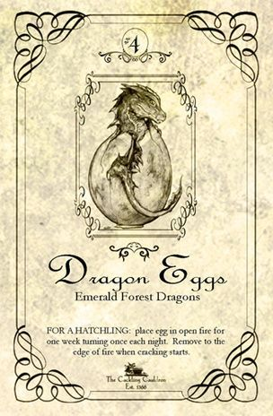 """Dragon's Eggs"" Bottle Label"