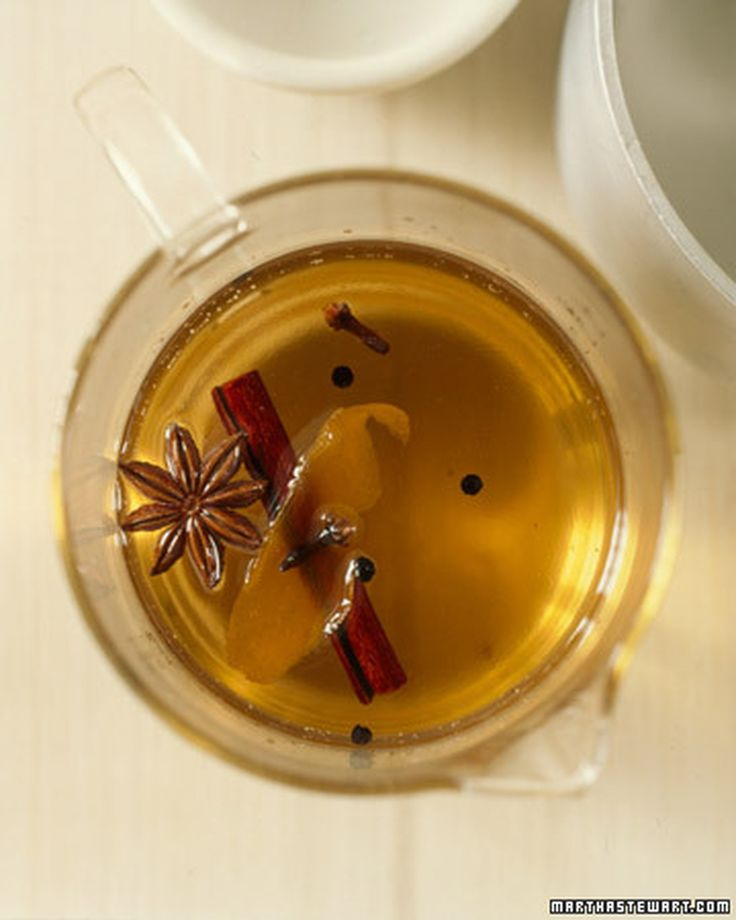 Celebrate seasonal spices with a simple syrup infused with cinnamon, cloves, star anise, orange peel, and black peppercorns.