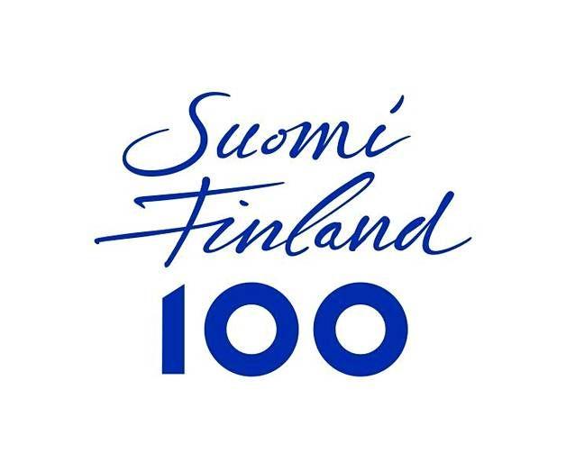 Tältä näyttää virallinen Suomi 100 -tunnus.