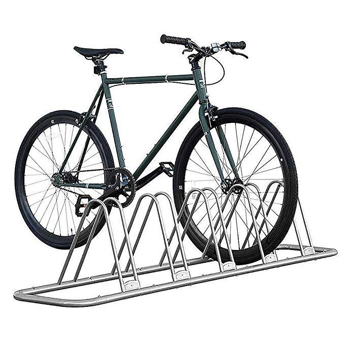 1-5 Bike Floor Parking Rack Storage Stand Bicycle