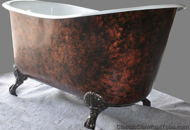 "57"" Cast Iron Swedish Slipper Tub 