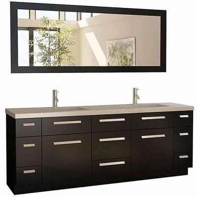 84 inch vanity top double sink. Design Element Moscony 84 in  W x 22 D Vanity Espresso with Quartz Top and Mirror Double Sink VanityDouble Bathroom 40 best Master Bath Vanities images on Pinterest bath