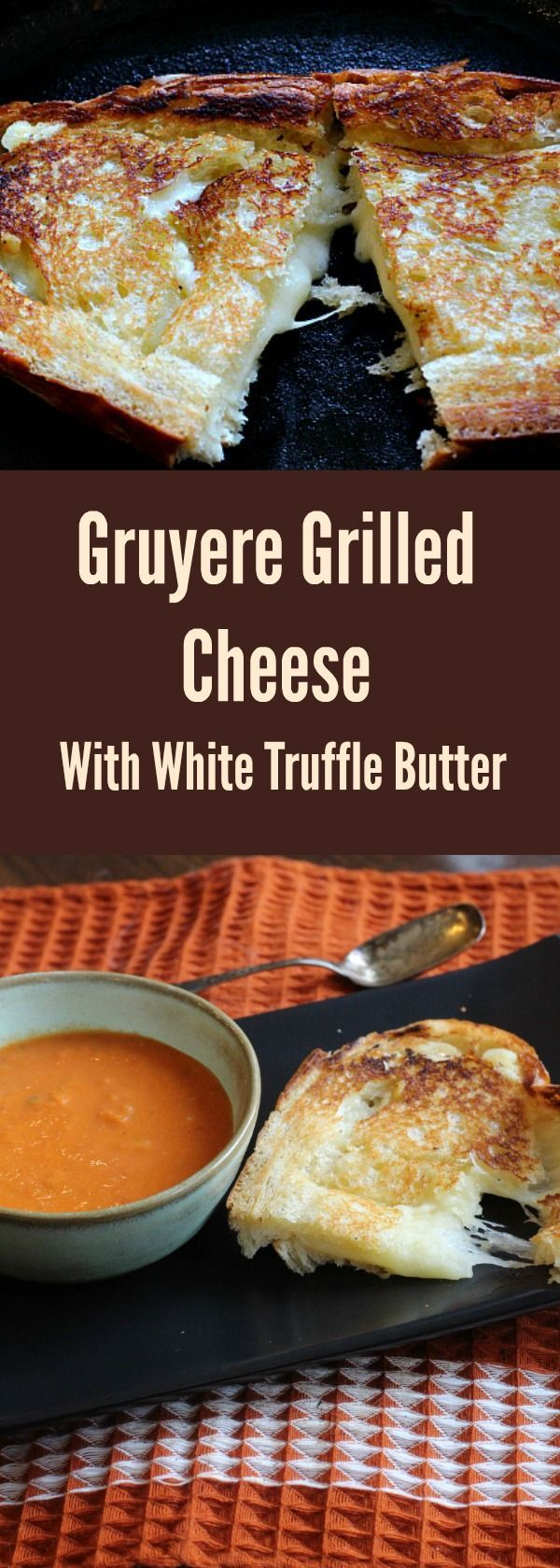 Fancy Schmancy Gourmet Grilled Cheese - This is seriously the best grilled cheese sandwich you will ever have! Brushed with White Truffle Butter and stuffed with gruyere cheese, this crispy and melty sandwich will be a household favorite! via @lannisam