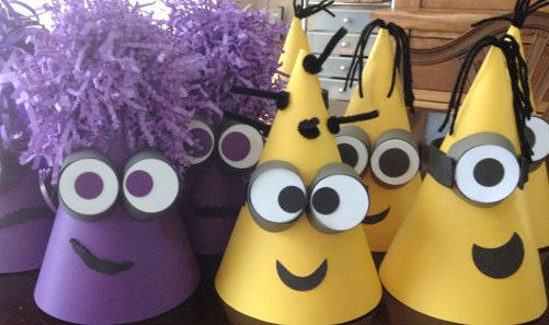 DESPICABLE Me CONED Party Hats Despicable by PSKreativeKreations