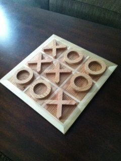 homemade wooden tic tac toe board | Dream Home | Pinterest | Homemade, Toe and Tic tac toe game