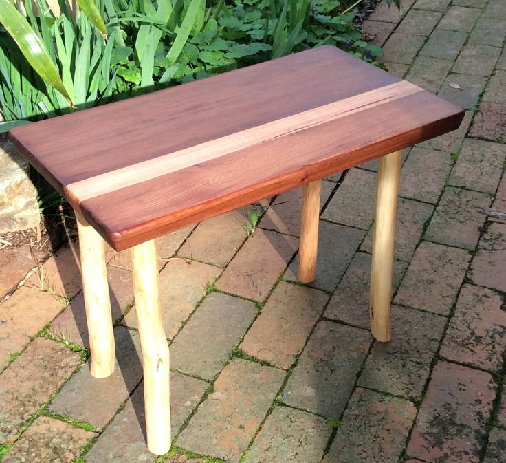 Cedar and  Mountain Ash small table or seat. Designed and made by Graeme Henchel, 2014.