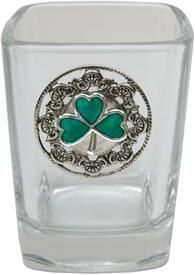 Shot Glass with Shamrock