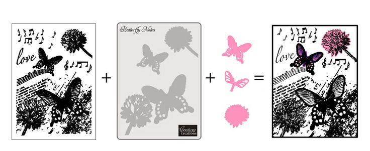 Couture Creations: Couture Creations | Dream Boat Collection, Butterfly Notes