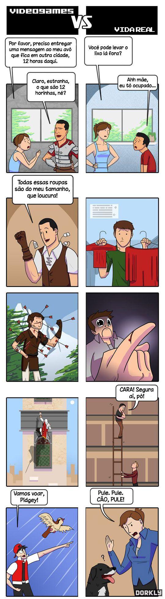 Video Games vs Vida Real