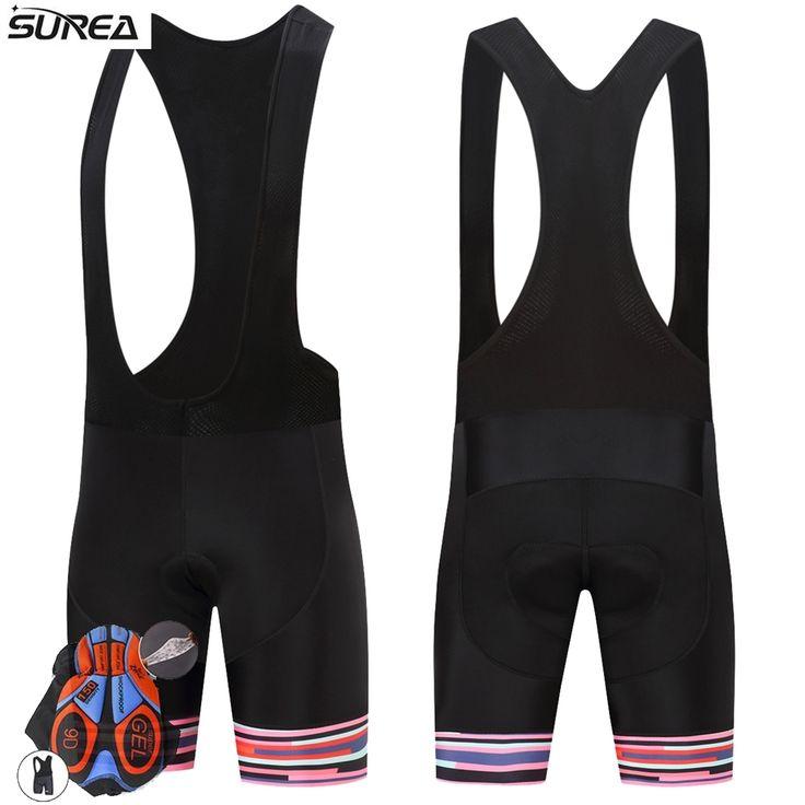 SUREA Cycling Shorts Black Anti-sweat Breathable Downhill MTB Mountain Road Bike Shorts 9D Pad Bicycle Short Culotte Ciclismo