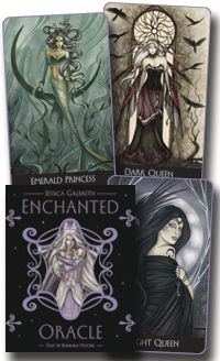 This gorgeous deck will assist you in gleaning knowledge and insight from the spirit realms! The artwork of Jessica Galbreth will pull you in, showing you goddesses and fairies, magic and power. Beautiful and mesmerizing!