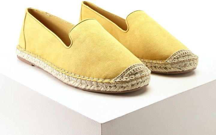 Have a bright sunshiny day with these fun golden yellow espadrilles!  FOREVER 21+ Faux Suede Espadrille Slip-Ons (affiliate)