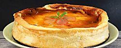 Rollito de tortilla de espinacas con crema de queso