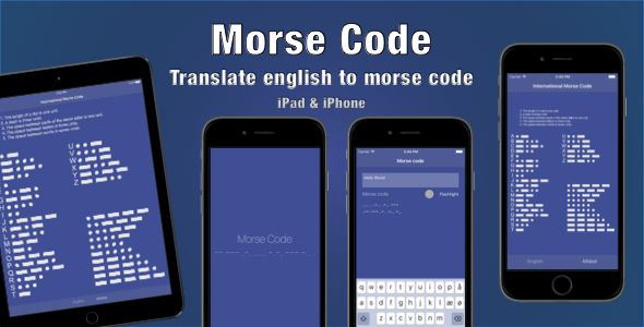 Morse Code . MorseCode is an easy to use application that allows to translate, type, learn, convert text to Morse