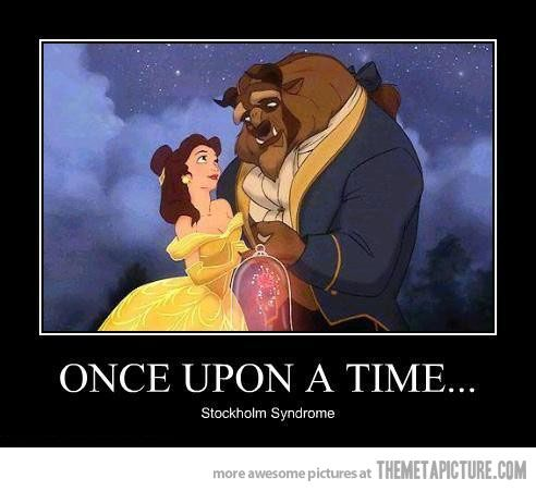 Once upon a time…: Beautiful And The Beast Humor, Funny Things, Funny Beautiful, Beautiful Beast, Disney Princesses, Stockholm Syndrome, Disney Things, Psychology Humor, Disney Movie
