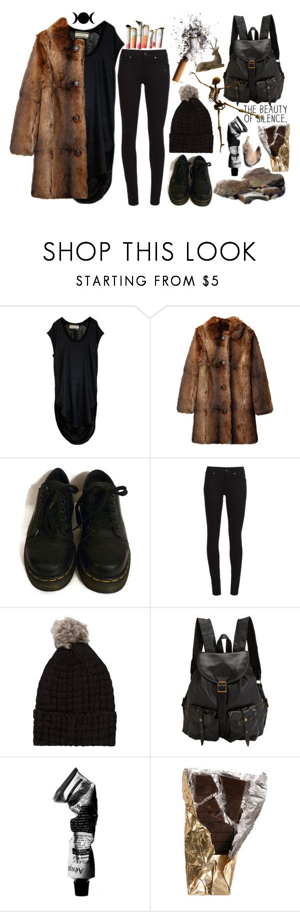 """""""in the beginning"""" by beatnikgonzo ❤ liked on Polyvore featuring By Malene Birger, A.P.C., Dr. Martens, Burberry, Jas M.B., Aesop and Isabel Marant"""