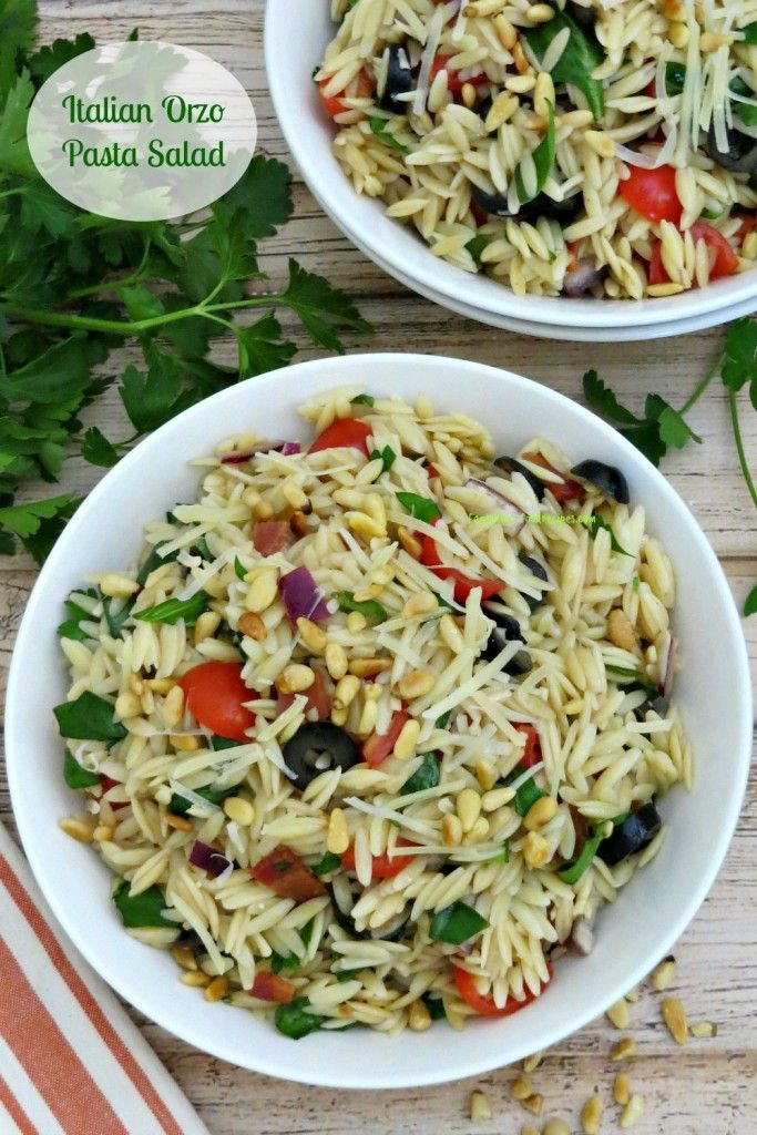 This Italian Orzo Pasta Salad is full of gorgeous colors, textures, and flavor! It's delicious as a side dish or on its own as a light lunch or snack.