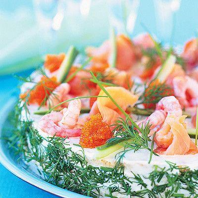 Smörgåstårta med smak av hav