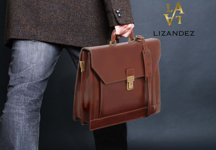 Napoli Leather Briefcase is timeless a briefcase & perfect for the professional