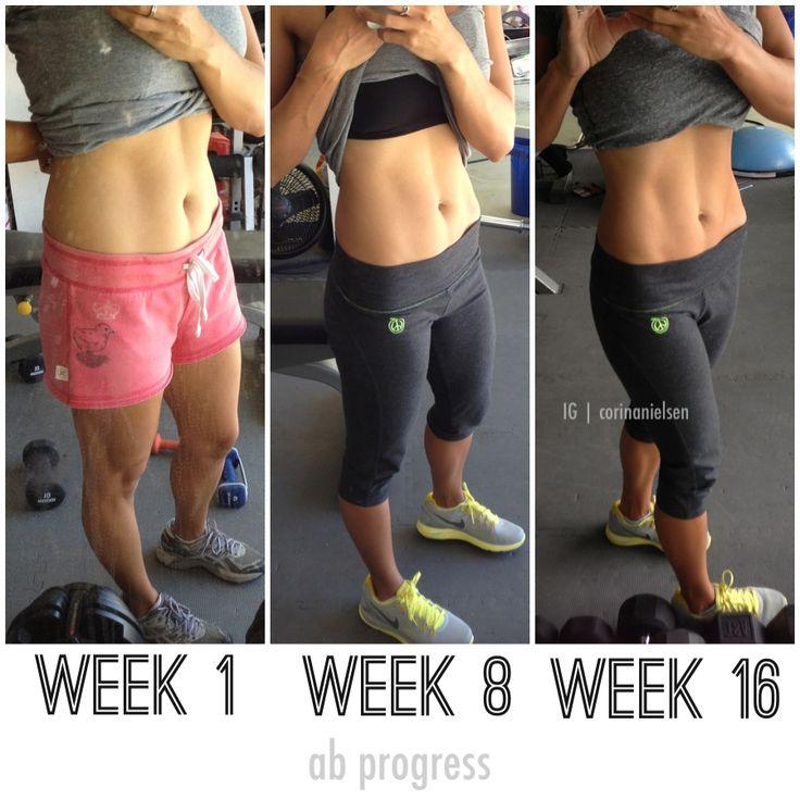 Cambiando tu forma de comer comer y el levantamiento de pesas. 16 semanas un progreso!