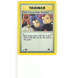 Pokemon Team Rocket 1st Edition Single Card Holofoil Rare Here Comes Team Rocket 15/82