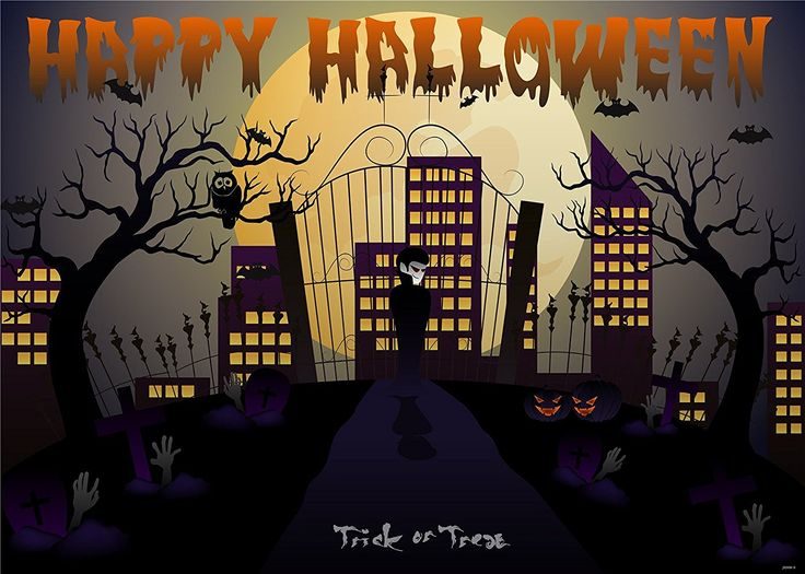 Amazon.com : 7x5ft Kate Halloween Photography Backdrops Cartoon Withered Castle Background Spider for Children Halloween Photo : Camera & Photo