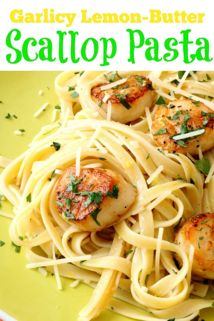 Perfect pan-seared scallops and fresh pasta are ready in under 10-minutes! What's the secret to achieving that beautiful brown sear? Well, I'm about to tell you!