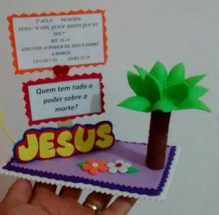 Cristo é a rosa mais bela: SUGESTÃO DE LEMBRANCINHA PARA 1ª AULA DE OUTUBRO