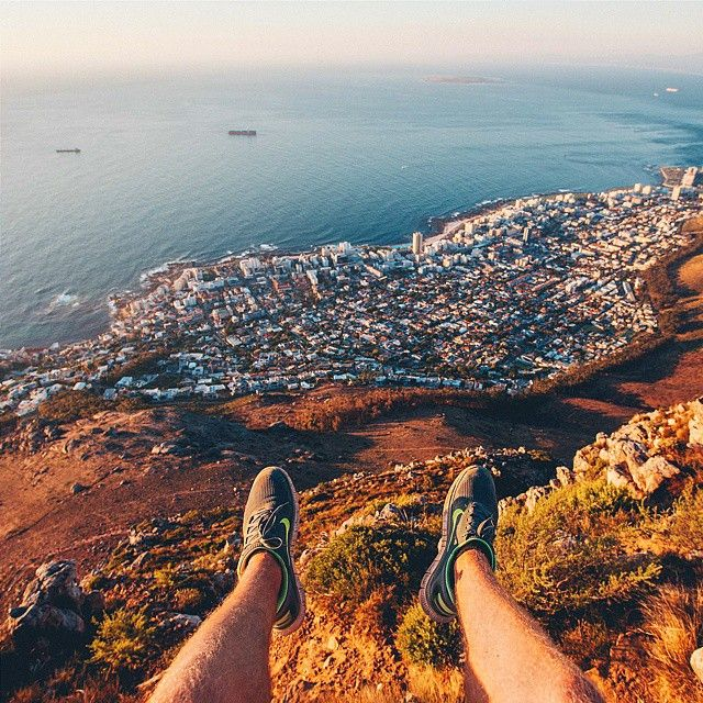Kicking it on Lion's Head, overlooking Sea Point #Capetown #top10Instagremmers